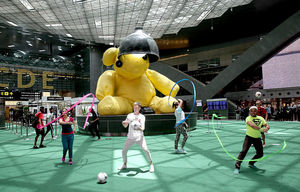Fussballfieber am Hamad International Airport (Foto: Qatar Airways)