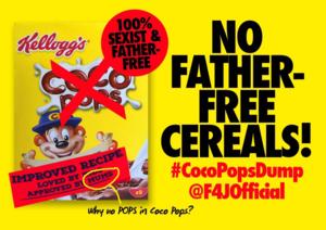 Protest: Väter unerwähnt auf Kellogg's-Packungen (Foto: twitter.com/F4JOfficial)