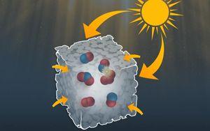 Künstlerische Grafik eines winzig kleinen Nanoreaktors (Bild: Allen Dressen)
